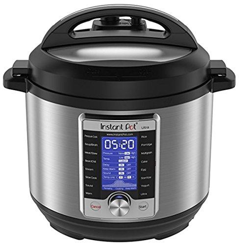 NEWEST Model Instant Pot Ultra 6 Qt 10-in-1 Multi-Use Programmable Pressure Cooker Slow Cooker Rice Cooker Yogurt Maker Cake Maker Egg Cooker Sauté Steamer Warmer and Sterilizer