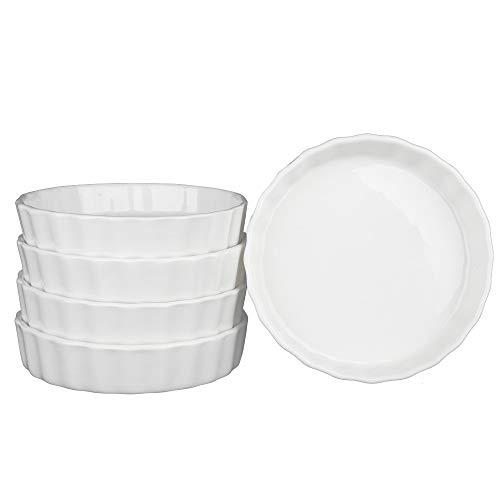SZUAH Porcelain Ramekins Baking Ramekins Set of 5 5oz 49 INCH for Souffle Creme Brulee Appetizer Custard Pudding and Ice Cream