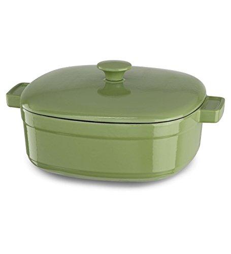 Kitchenaid Kcli60crki Streamline Cast Iron 6-quart Casserole Cookware - Kiwi