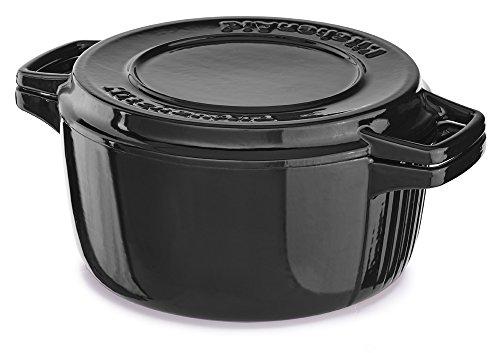 Kitchenaid Kcpi60crob Professional Cast Iron 6-quart Casserole Cookware - Onyx Black