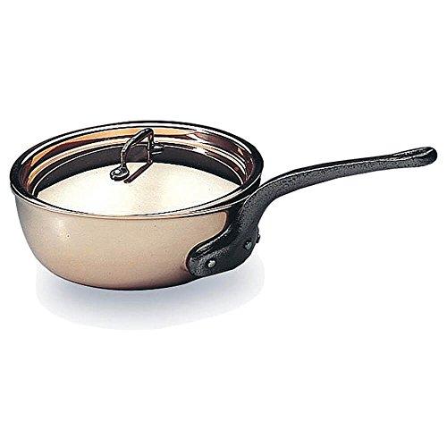 Matfer Bourgeat Saucier Pan With Lid 11 Copper 373128