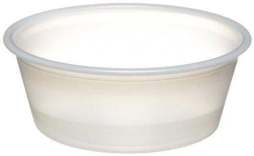 SOLO P150-0100 Plastic Souffle Cup 15 Oz Translucent 20 tubes of 250