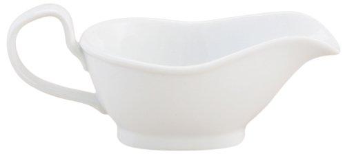 HIC 8-ounce Porcelain Gravy Boat Serves 2