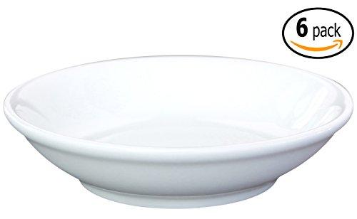 Ceramic Side Sauce Dish and Pan Scraper 375 Inch - 3 Ounce - Bone Off-white 6