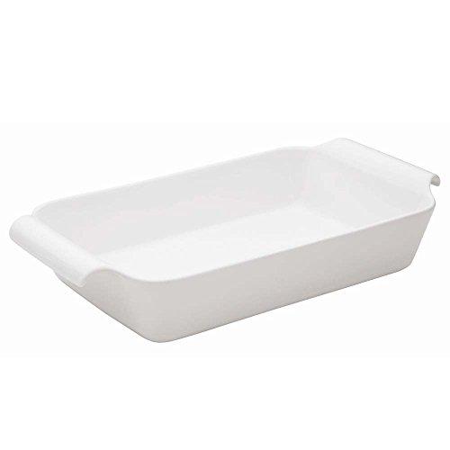Oxford C04F Professional Porcelain RoasterBaking Dish with Handle Large White