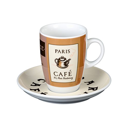 Seltmann Weiden VIP Cup with Saucer Coffee Cup Tea Cup Paris Porcelain Dishwasher Safe 250 ml 1250913