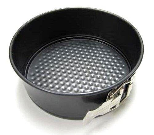 Chloes Kitchen 203-185 Non-Stick Round Spring Form Pan 7-Inch Dark Grey