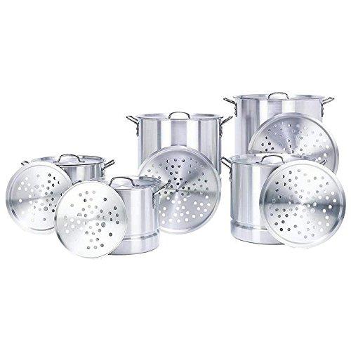 CONCORD 5 Aluminum Stock Pot Set 2024324052 QT Brew w Steamer Insert Lid byoverstockcookware