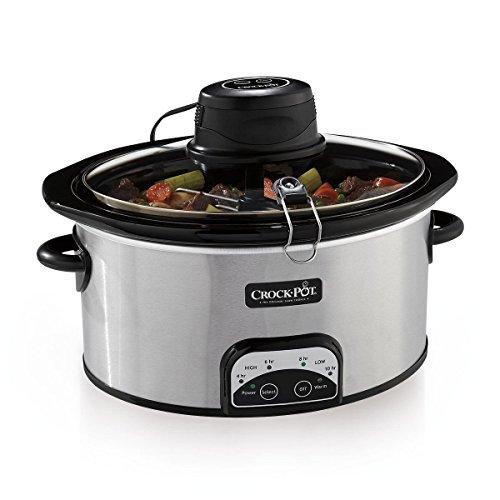 NEW Crock-Pot Digital Slow Cooker w Smart Cook&trade iStir™ SCCPVP650AS-S