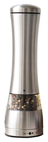 Sage Kitchenware MEC Stainless Steel Black Pepper or Salt Mill Strong Ceramic Grinder Mechanism 85 L