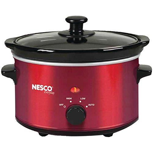 Nesco SC-150R Oval Slow Cooker 15-Quart Red