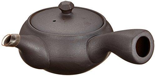 Tokoname Yaki Isshin 62inch Japanese Teapot Black Porcelain
