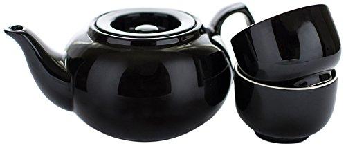 Adagio Teas PersonaliTea Ceramic Teapot with Infuser Basket 24-Ounce Black