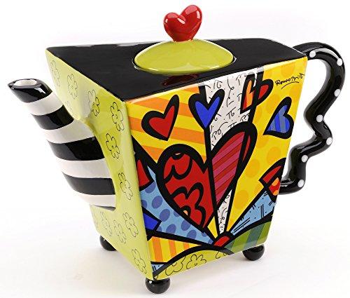 Romero Britto Ceramic Teapot 48oz - A New Day Design