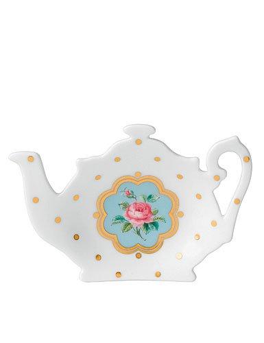 Royal Albert New Country Roses White Teapot Tea Bag Tray