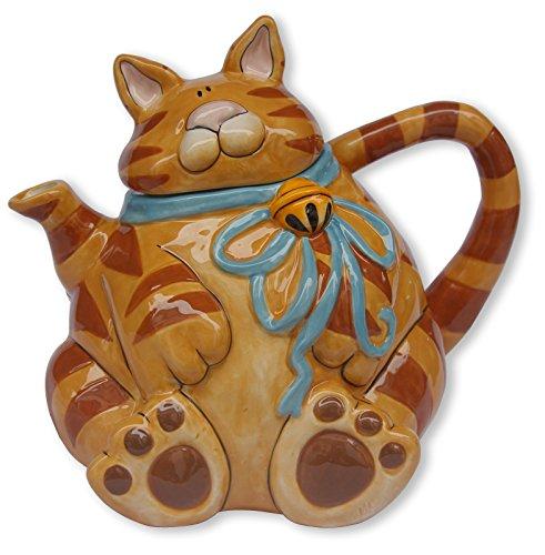Blue Sky Ceramic Cat Teapot 9 x 65 x 75 Orange