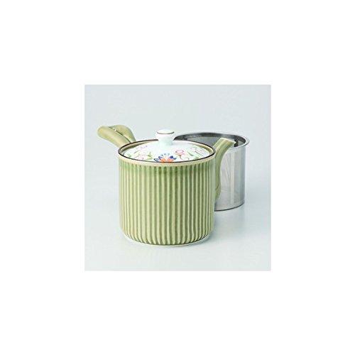Japanese porcelain Hasami ware karen SS green teapot L J29-12739
