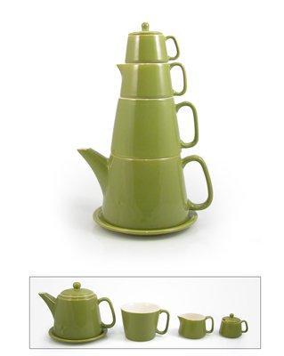 Large Teapot Tower Green Teapot