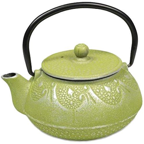 Tetsubin green teapot Japanese 06 liter