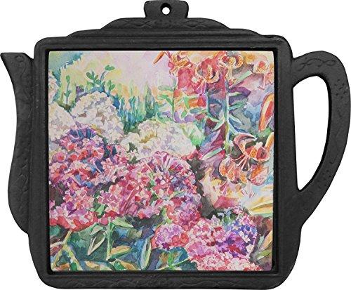 Watercolor Floral Teapot Trivet Personalized