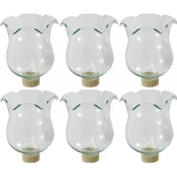 6 Clear Glass Votive Candle Holder Cups Wpeg Bottoms