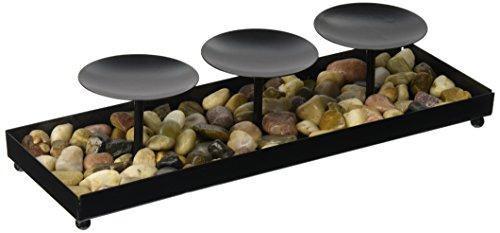 Kole Decorative Metal Candle Holder Stones Set
