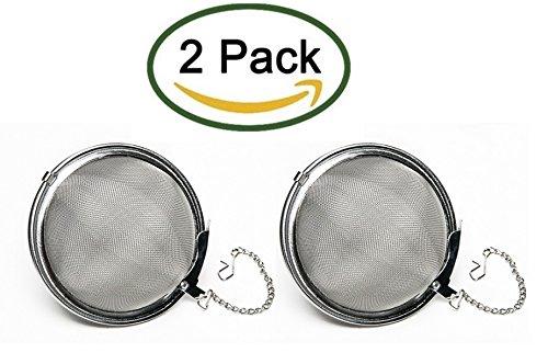 Nuk3yStainless Steel Rust Resistant Mesh Tea Ball Strainer Filter Infuser Pack of 2