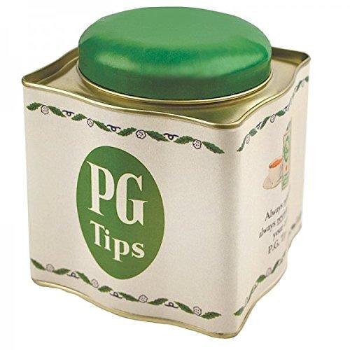 Tea CaddyTeabag Holder ~ PG TIPS ~ Retro Tinware