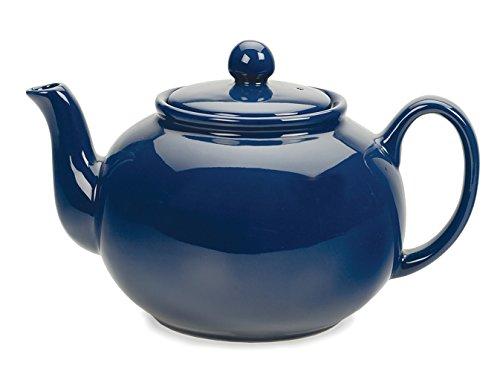 RSVP Large Stoneware 6-Cup Teapot Blue