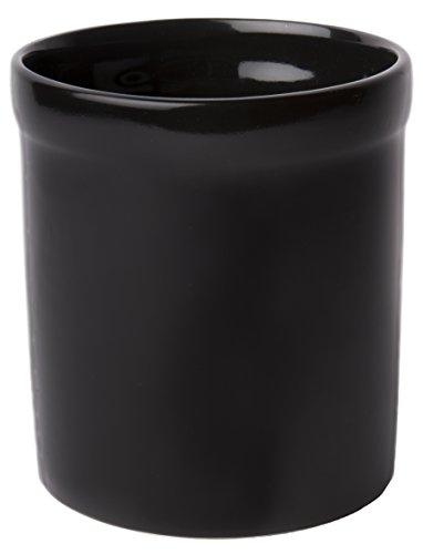 American Mug Pottery Ceramic Utensil Crock Utensil Holder, Made In Usa, Black