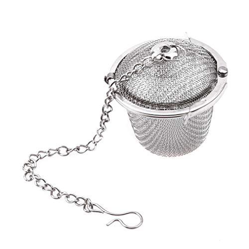 Sevenfly Stainless Steel Tea Ball Strainer Infusers with Micro Perforated Mesh - Steep Loose Leaf Tea Herbal Spices Seasonings - Teapot Tea Coffee Cup Mug