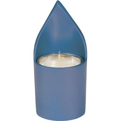 Shabbat Candlesticks Holders - Jewish Set - Yair Emanuel ANODIZE ALUMINUM MEMORIAL CANDLE HOLDER BLUE Bundle