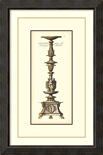 Framed Art Print Antique Candlestick I by Vision Studio