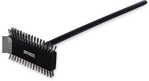 Carlisle 4029000 Broiler Master Grill Brush Stainless Steel Bristles 305 Length Hardwood Brush and Handle Black