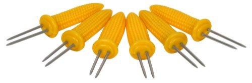 Ekco 1094967 6 Piece Corn Skewer Set Yellow by Ekco