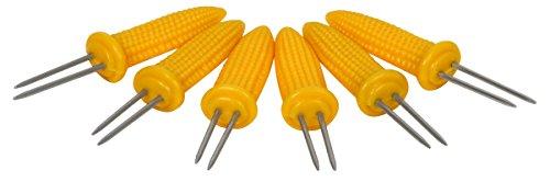 Ekco 1094967 6 Piece Yellow Corn Skewer Set