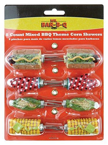 Mr Bar-B-Q Inc 40035X Mix Shapes of Corn Skewers 8-Count by Mr Bar-B-Q