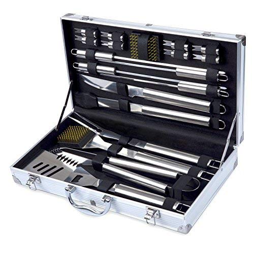 Grill Tool Set Kacebela BBQ Tools Grill Utensil Set with Storage Case for Outdoor Barbecue Grilling Stainless Steel19-Piece