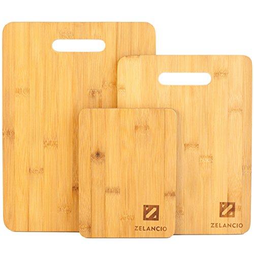 Zelancio Bamboo Cutting Board Set   Set Of 3 Boards