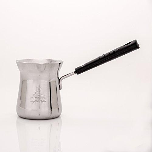 Stainless Steel Turkish Coffee Pot With Mehmet Efendi Logo 8 oz
