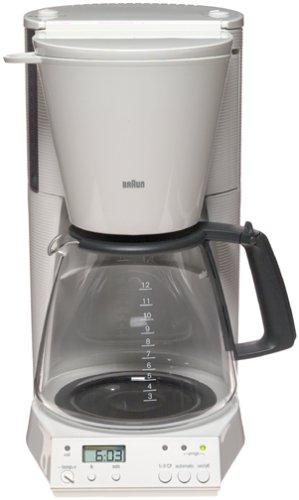 Braun KF187W FlavorSelect 12-Cup Coffeemaker White