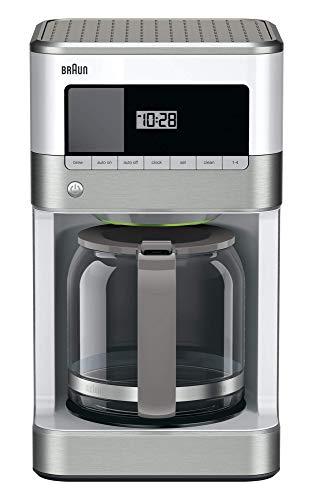 Braun KF6050WH Brewsense Drip Coffee Maker 12-Cup white Renewed