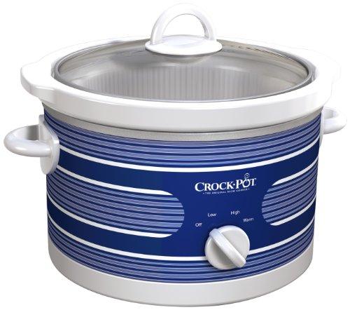 Crock-pot Scr450-st Slow Cooker, 4.5-quart, Blue Stripe Pattern