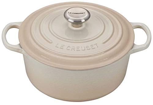 Le Creuset Signature Meringue Enameled Cast Iron 45 Quart Round Dutch Oven