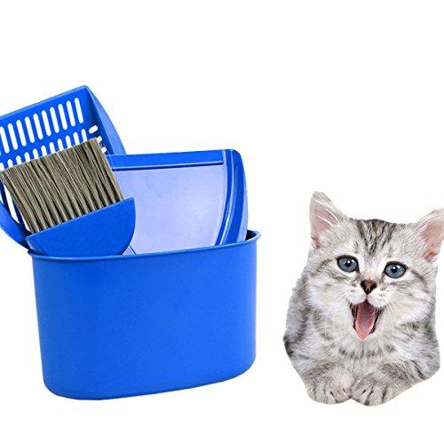 UHeng Pet Dog Cat Mini Litter Shovel Dustpan Brush Broom Cleaning Tool Set