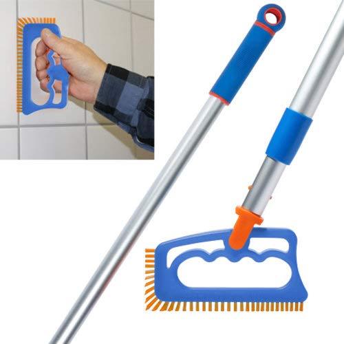 Fuginator tile joint brush orangeblue - innovative grout brush for cleaning joints in bathroom kitchen household