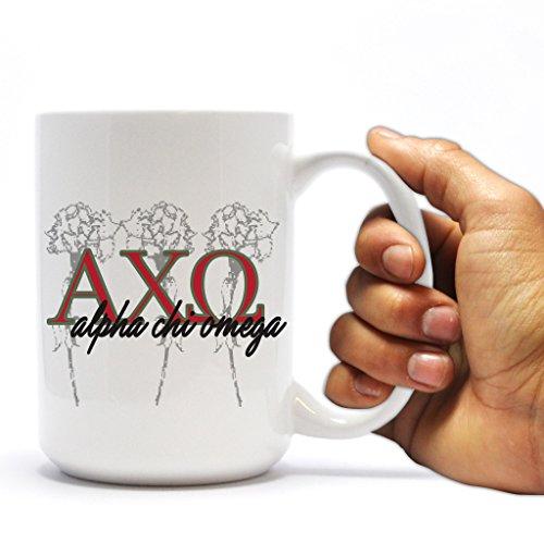 Alpha Chi Omega 15oz Coffee Mug Greek Letter Monogram