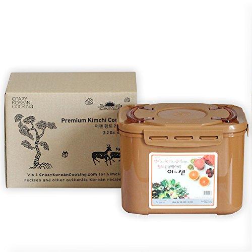 Premium Kimchi Sauerkraut Fermentation Container with Inner Vacuum Lid - 22 Gallon 85L