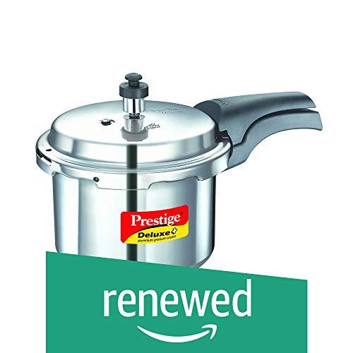 Prestige Deluxe Plus Aluminum Pressure Cooker 3 Liter Renewed
