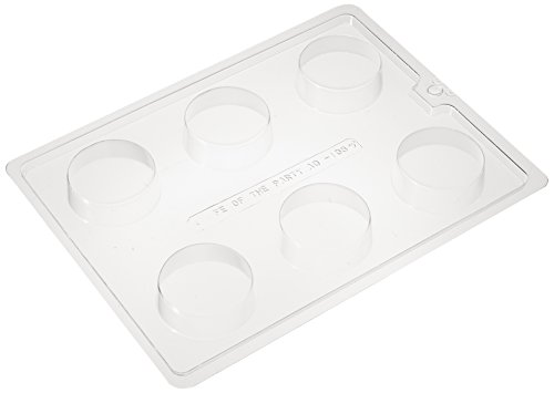 Cybrtrayd Life of the Party AO138 Plain Cookie Chocolate Candy Mold in Sealed Protective Poly Bag Imprinted with Copyrighted Cybrtrayd Molding Instructions